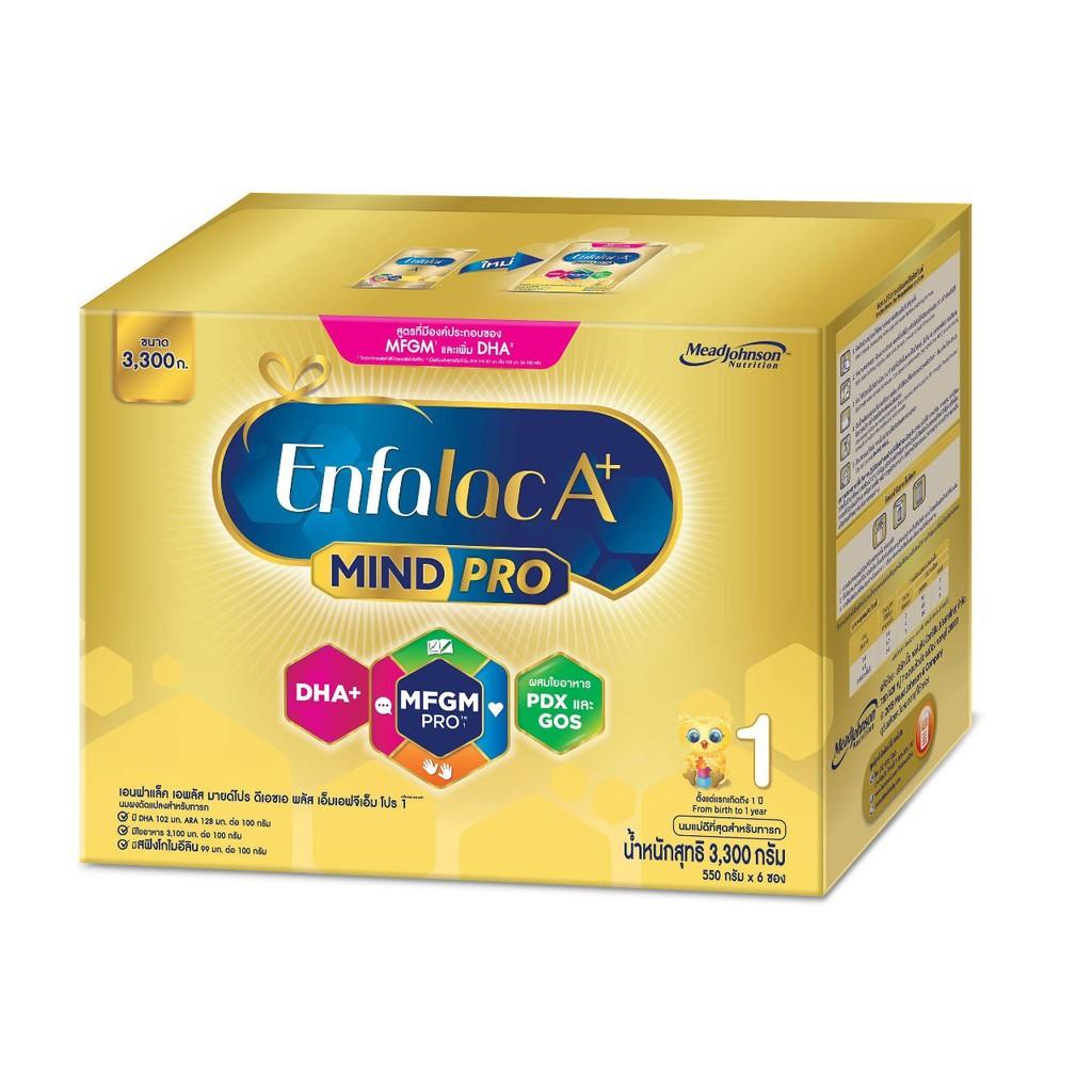 EnfalacA+ เอนฟาแล็คเอพลัส สำหรับแรกเกิด-1ปี สูตร 1 ขนาด 3300 กรัม ( 1กล่อง ) Q0Cv