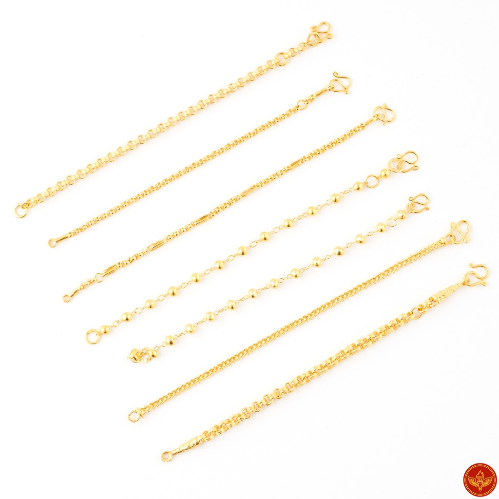 [ทองคำแท้] LSW สร้อยข้อมือเด็ก ทองคำแท้ ครึ่ง สลึง (1.89 กรัม) ราคาพิเศษ มาพร้อมบัตรรับประกัน (FLASH SALE 2)