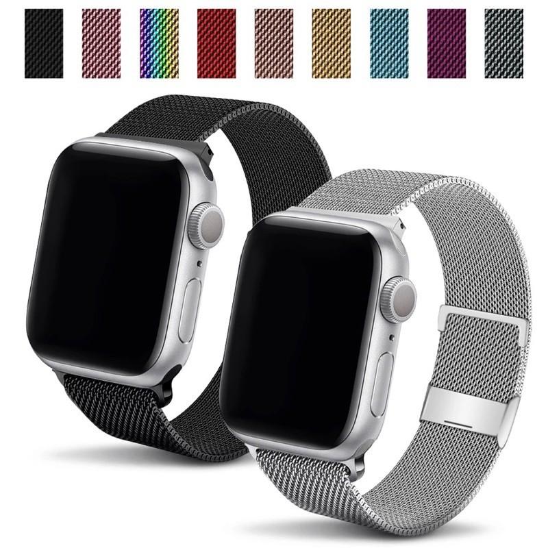 【พร้อมส่ง】#31 สาย สำหรับ apple Watch Band Milanese Loop Series 1 2 3 4 5 6 44 มม 40 มม 38 มม 42 มม สาย applewatch 6 se 4