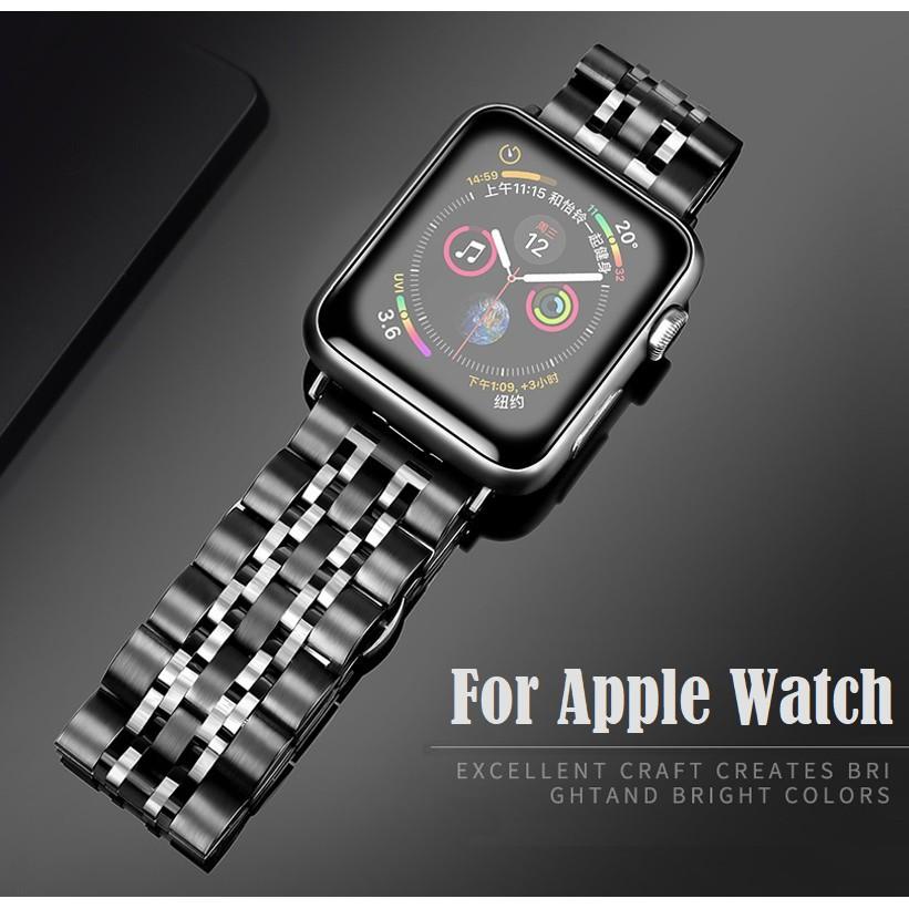 สาย applewatch Luxury สายนาฬิกา Apple Watch Straps เหล็กกล้าไร้สนิม สาย Applewatch Series 6 5 4 3 2 1,  Apple Watch SE s