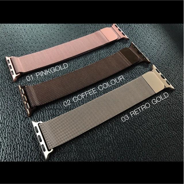 สาย applewatch สาย applewatch แท้ ⚡️สายพร้อมส่งสาย⚡️Apple Watch stainless steel space 38,40,42,44mm.