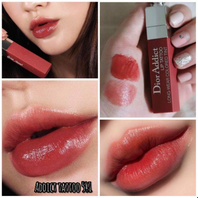 ของแท พรอมสงdior Addict Lip Tattoo 541 Natural Sienna 6 Ml