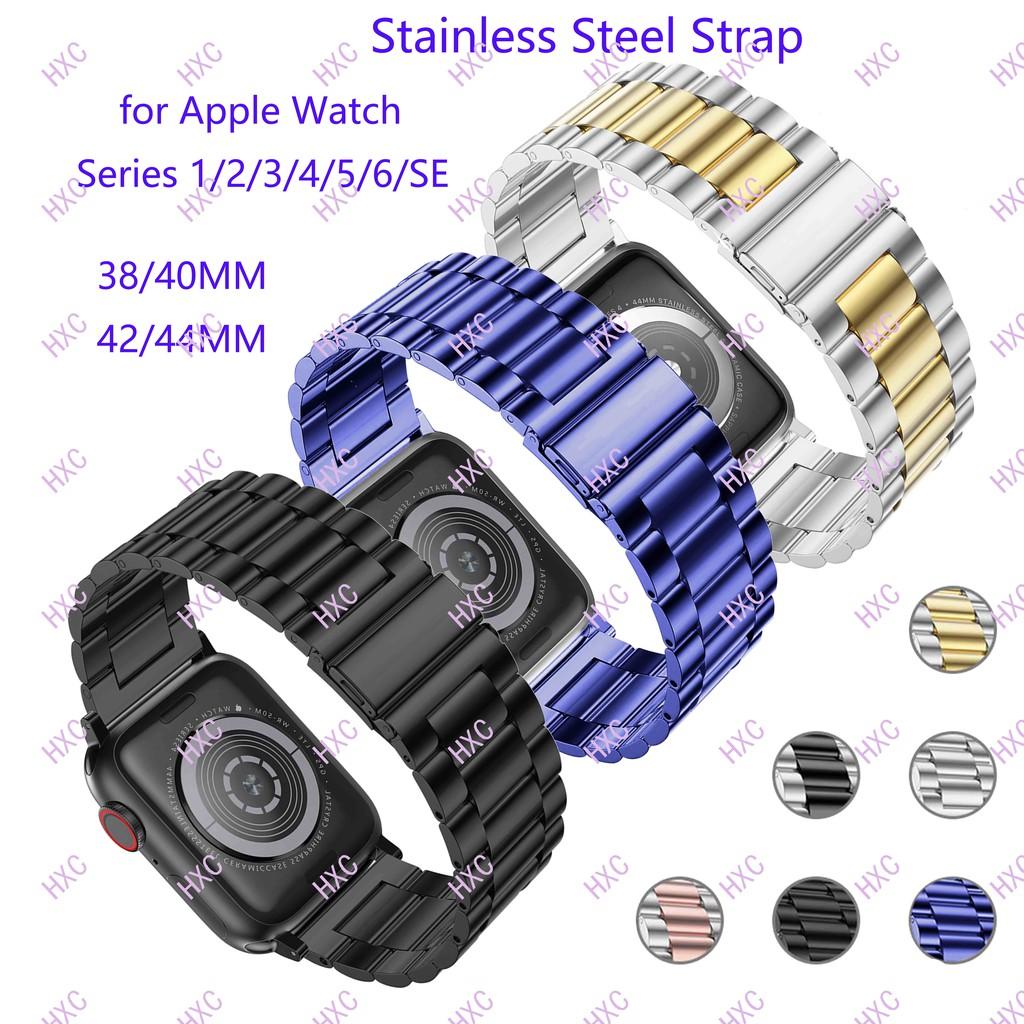 สาย applewatch 38/40mm 42/44mm Stainless Steel Band for iWatch Series 1/2/3/4/5/6/SE