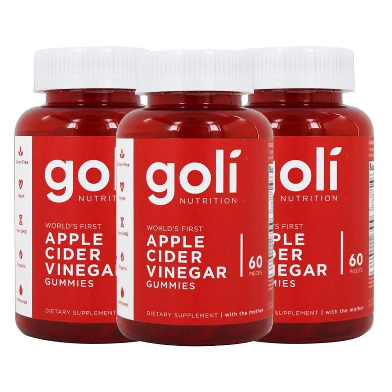 Goli Apple Cider Vinegar Gummy กัมมี่แอปเปิ้ลไซเดอร์เพื่อสุขภาพ 3 กระปุก