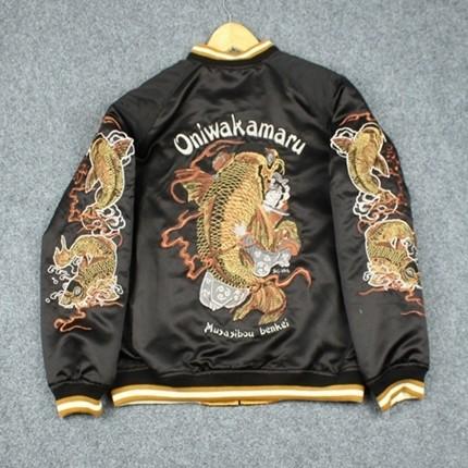 SUKAJAN พรีเมียมเกรด Japanese Souvenir Jacket  แจ็คเกตซูกาจันลาย   TEDMAN ONIWAKAMARU