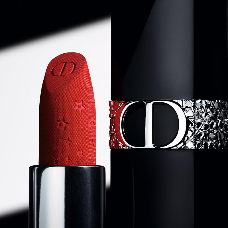 ❇๑[Official Genuine] Dior Dior Bright Blue Gold Lipstick Starlight New รุ่น 668 999 ลิปสติก