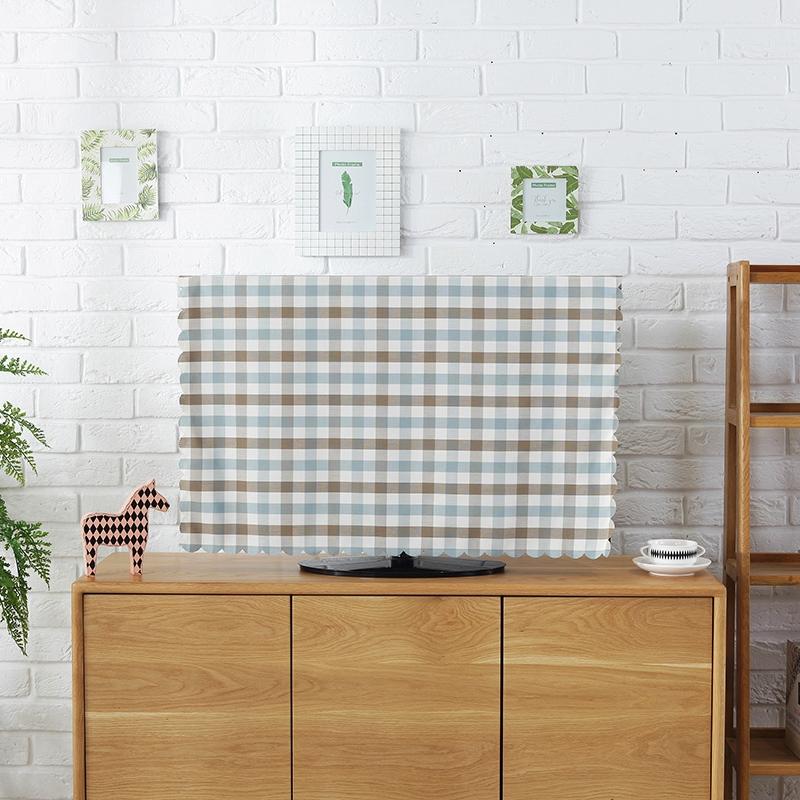 ผ้าตาข่ายเรียบง่ายทันสมัยผ้าคลุมทีวีผ้าคลุมฝุ่น