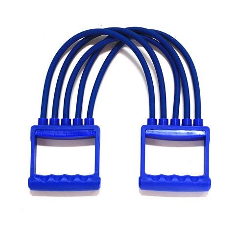❍เครื่องปรับความตึงน้ำยางผู้ชาย 5 ท่อยางยืดหน้าอกที่ถอดออกได้อุปกรณ์ออกกำลังกายสายรัดแขนยาง