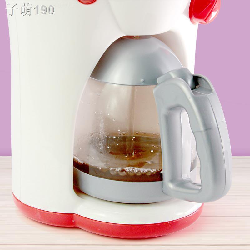 ⊙☌ชุดน้ำชายามบ่ายของเล่นเด็ก ถ้วยชา ชุดกาน้ำชา เครื่องชงกาแฟจำลอง เครื่องทำน้ำดื่มมินิสำหรับเด็ก น้ำดื่มออก