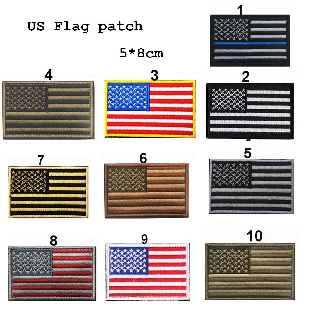 Magic Patriotic USA Military Patch Embroidered S