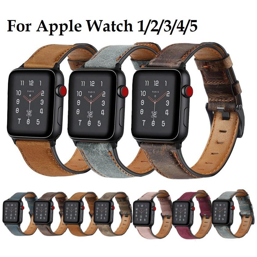 สายนาฬิกา Apple Watch Retro Leather Strap for Iwatch สาย Apple watch Series 6 5 4 3 2,  Apple Watch SE สายนาฬิกา applewatch Strap size 38mm 40mm 42mm 44mm