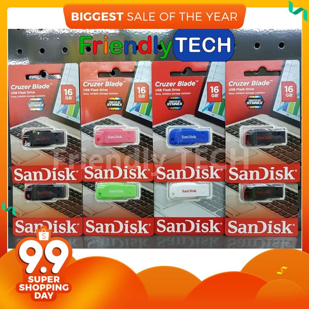 Sandisk Switch Cz52 64gb Usb Flash Drive Black Red Shopee Thailand Flashdisk Cruzer Edge Cz51