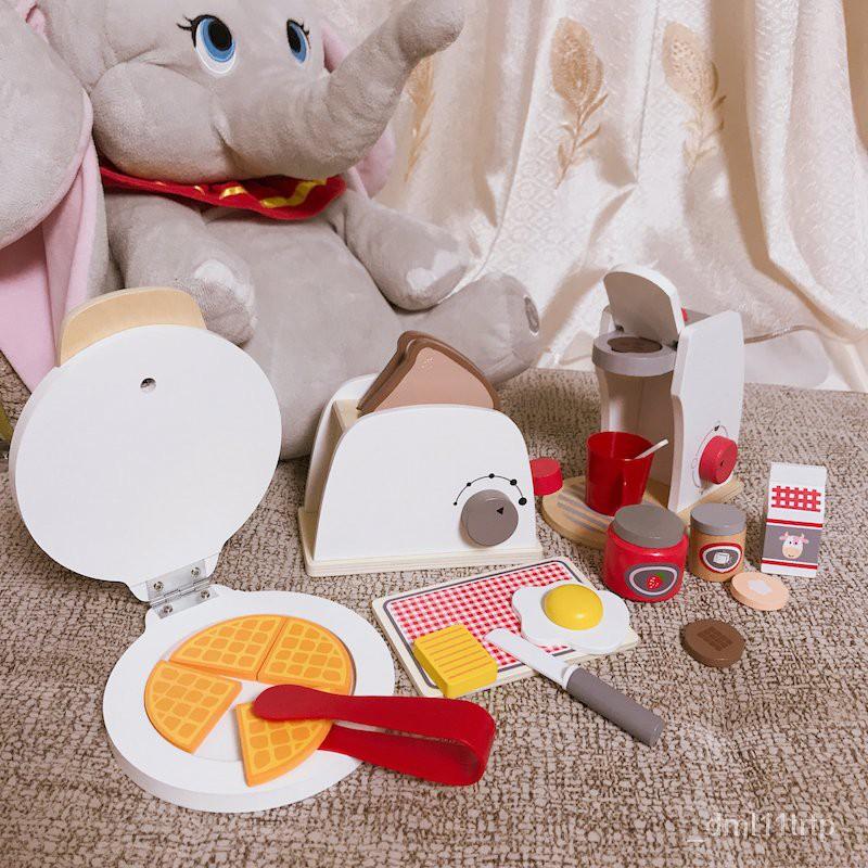 เด็กจำลองครัวของเล่นเด็กทำบ้านอาหารเช้าเครื่องชงกาแฟเครื่องแพนเค้กเครื่องใช้ขนาดเล็ก WiHI