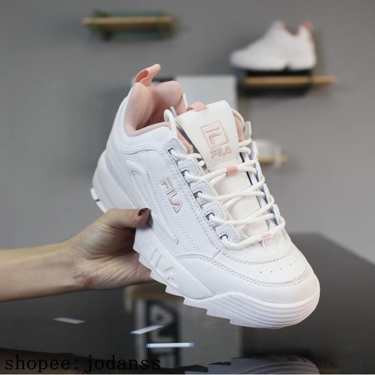 Fila DISRUPTOR II 2 generation รองเท้าวิ่งสีขาว