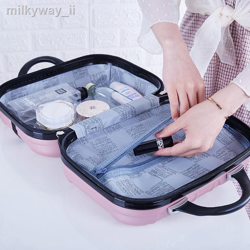 ●กระเป๋าเครื่องสำอาง 14 นิ้วแฟชั่นเกาหลีรุ่นมินิกระเป๋าเดินทางขนาดเล็กกระเป๋าถือ 16 นิ้วกระเป๋าเดินทางขนาดเล็กกระเป๋าเ