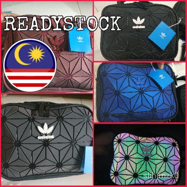 "X41A "" Famous Bag "" Adidas 3D Mesh Issey Miyake Style Sling Bag"