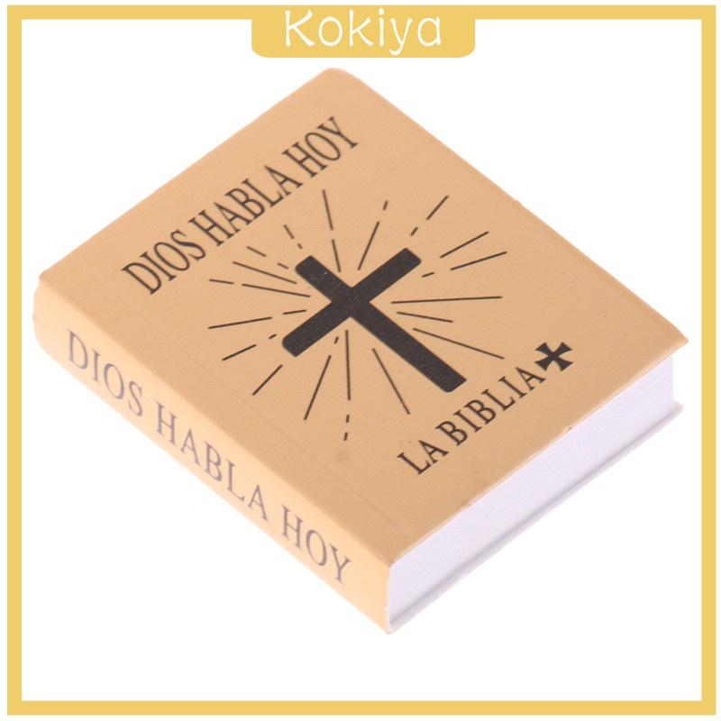 [Kokiya] อุปกรณ์เสริมหนังสือฟิกเกอร์ 1/6 Scene Books Holy Bible สําหรับตุ๊กตา Bjd