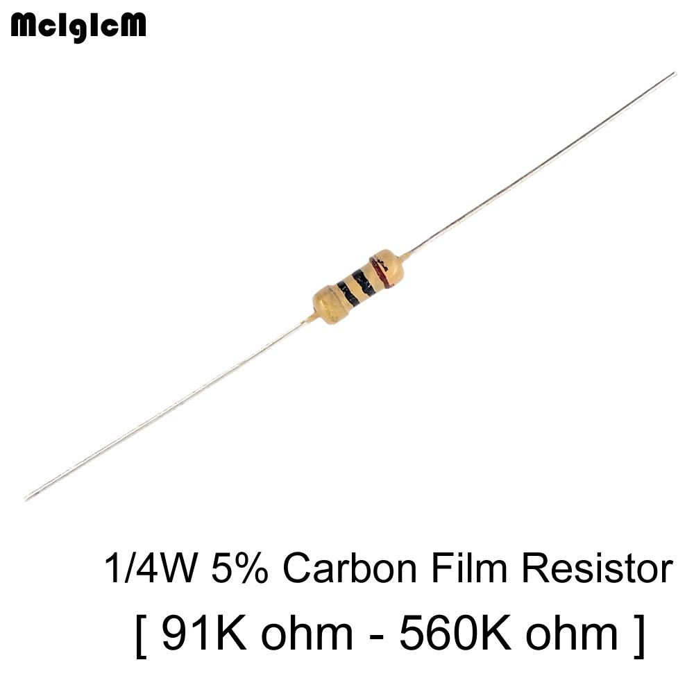 100 x Resistors 2.7 Ohms OHM 1//4W 5/% Carbon Film