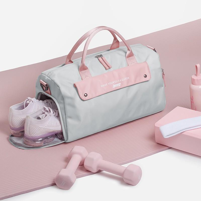 ❏☃✹net คนดังกีฬายิมกระเป๋าหญิงกระเป๋าใบเล็กแยกแห้งและเปียกกระเป๋าเดินทางระยะสั้นกระเป๋ากันน้ำ กระเป๋าโยคะว่ายน้ำ