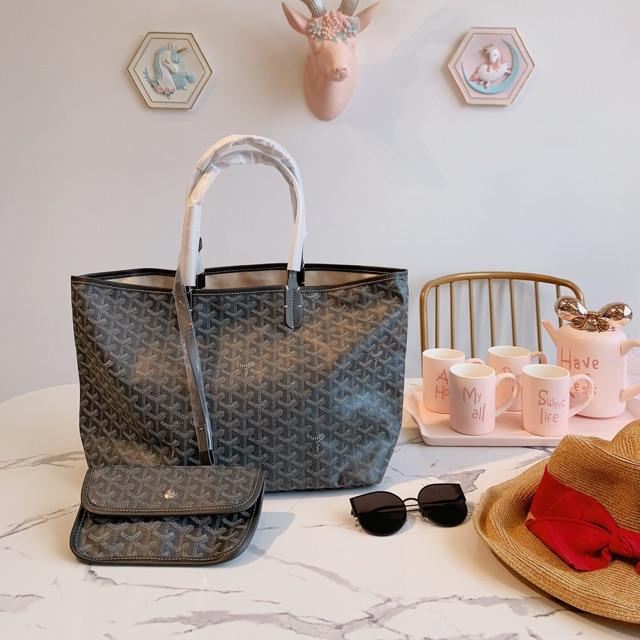 กระเป๋า Goyard ฝรั่งเศสสีเทา / ขาว