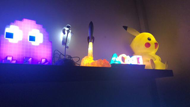 warm white nursery light New Smiling Faces Light Up LED Rocket night light