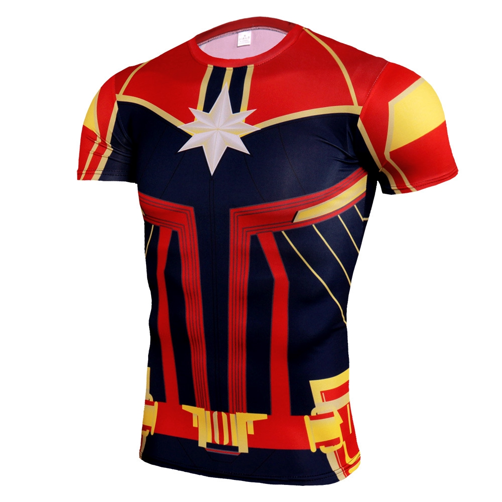 Shirt Captain Cosplay Short Sleeve Costume Pattern Shirts Print 3d Tops Marvel T 5RAjcLqS34