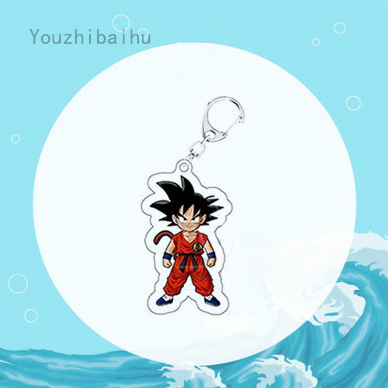 พวงกุญแจอะคริลิค Dragonball Z Saiyan Son Goku Kakarotto Vegeta