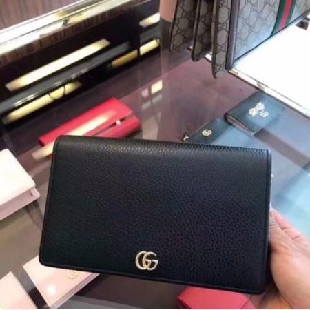 [XD]ของแท้ GUCCI Dionysus leather mini chain bag black 401231 shoulder bag spot