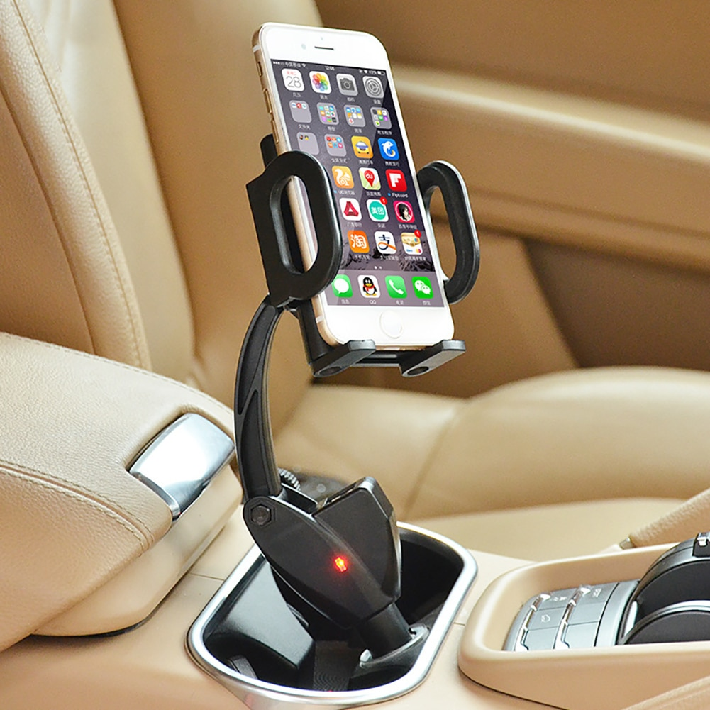 Dual USB Car Charger Cigarette Lighter Mobile Phone Holder Bracket Support For iPhone Xiaomi Samsung GPS Stand Auto Acce