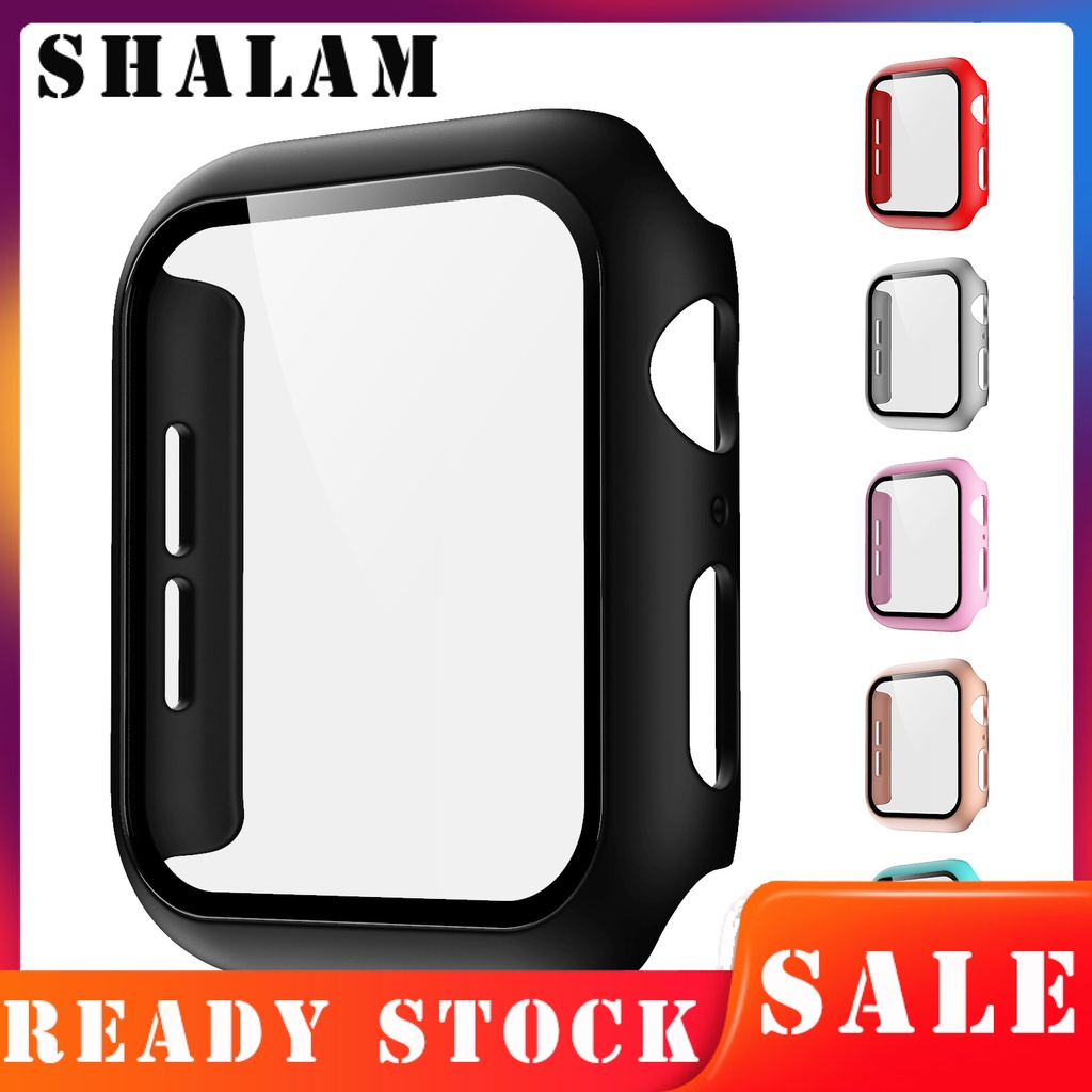 Alstar Glass Case for Apple Watch Series S6 SE 40mm Scratch Resistant Screen Protector