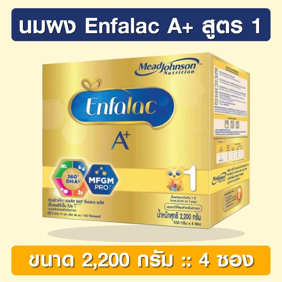 Enfalac A+ 1 ขนาด 2,200 กรัม [นมผง] เอนฟาแล็ค เอพลัส สูตร 1