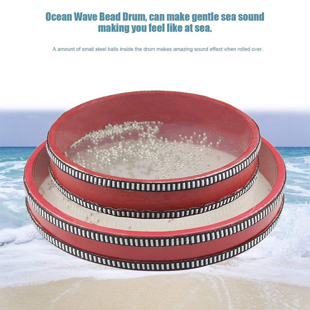 Sea Instrument Toys Musical Bead Drum Gift Early Learning Ocean Wave For  Baby Kid