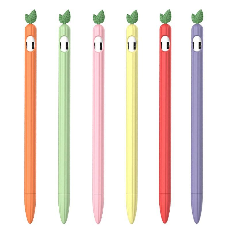 ✙เคสซิลิโคน ใบไม้ ❤️ถูกมาก พร้อมส่ง❤️ new Cute leaf Silicone Apple Pencil 2/1 Case For iPad Tablet Touch Pen Stylus Car