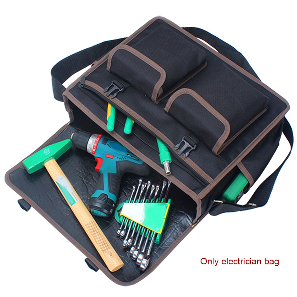 Tool Organizers Hardware Nails Bit Canvas Tool Bag Organizer Drill Pouch Electrician Hand Parts Storage Screws