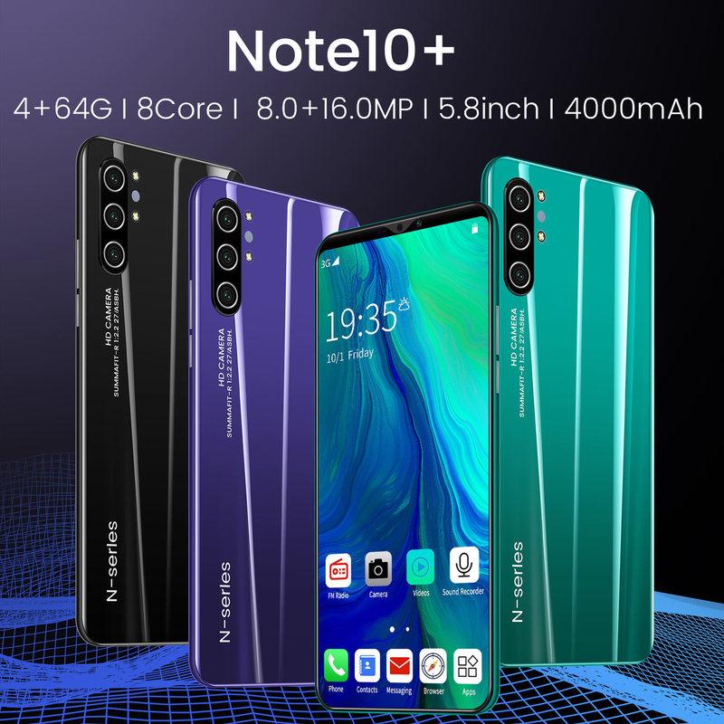 สมาร์ทโฟน Note 10 3 G / 4 G กับ Ram 4gb Rom 64 Gb ขนาด 5 . 8 นิ้ว Zy