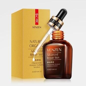ราคาถูก เซรั่ม เวนเซน Venzen Natural Organic Advanced Repair Serum (กล่องทอง) ของแท้
