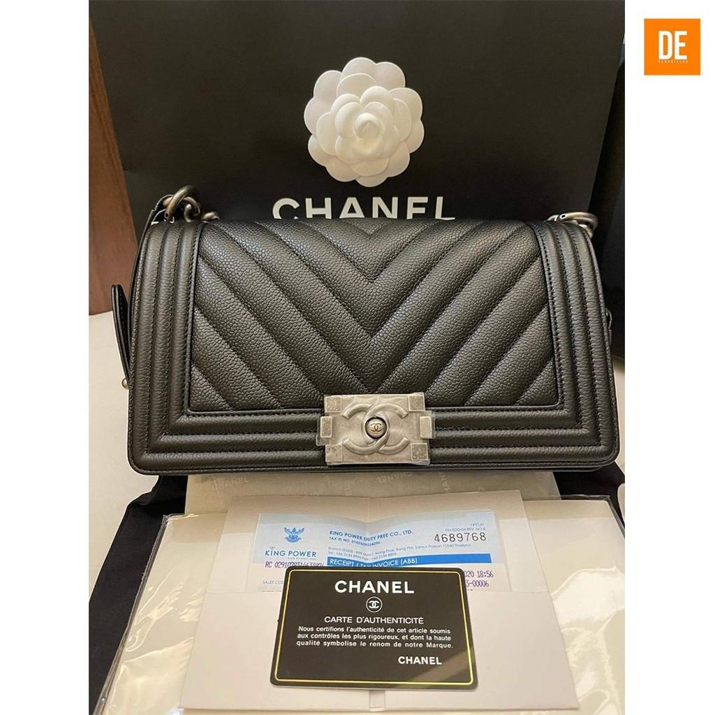 กระเป๋าสะพาย CHANEL BOY 10 CHEVRON HOLO 29 : GN1760A
