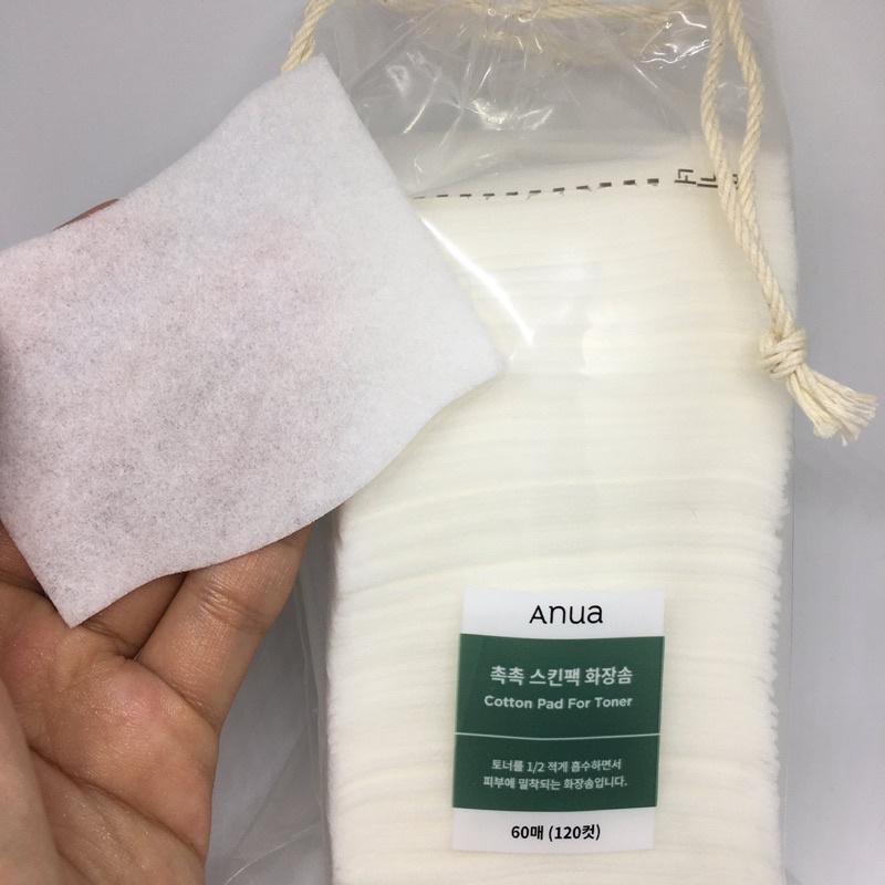 Anua cotton pad for toner 120 แผ่น