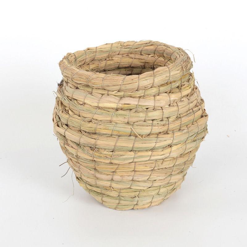 ☎✈﹉รังนกฟางนกมานเบิร์ดของเล่นนกโบตั๋นนกหงส์หยกอุปกรณ์ Xuanfeng กล่องเพาะพันธุ์หญ้า 1 กล่องจัดส่งฟรี