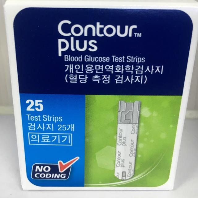 แผ่นตรวจระดับน้ำตาล  Contour Plus Stips EXP. 10/21