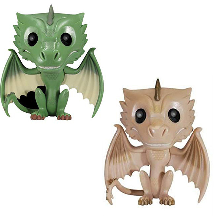 FUNKO Pop Game of Thrones Figure Green Dragon Yellow Dragon Dragon Mother Vesselion GARAGE KIT PVC FIGURE
