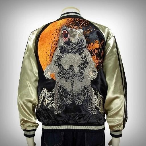 SUKAJAN แบรนด์แท้ญี่ปุ่น Japanese Souvenir Jacket แจ็คเกตซูกาจันลาย Big Bear