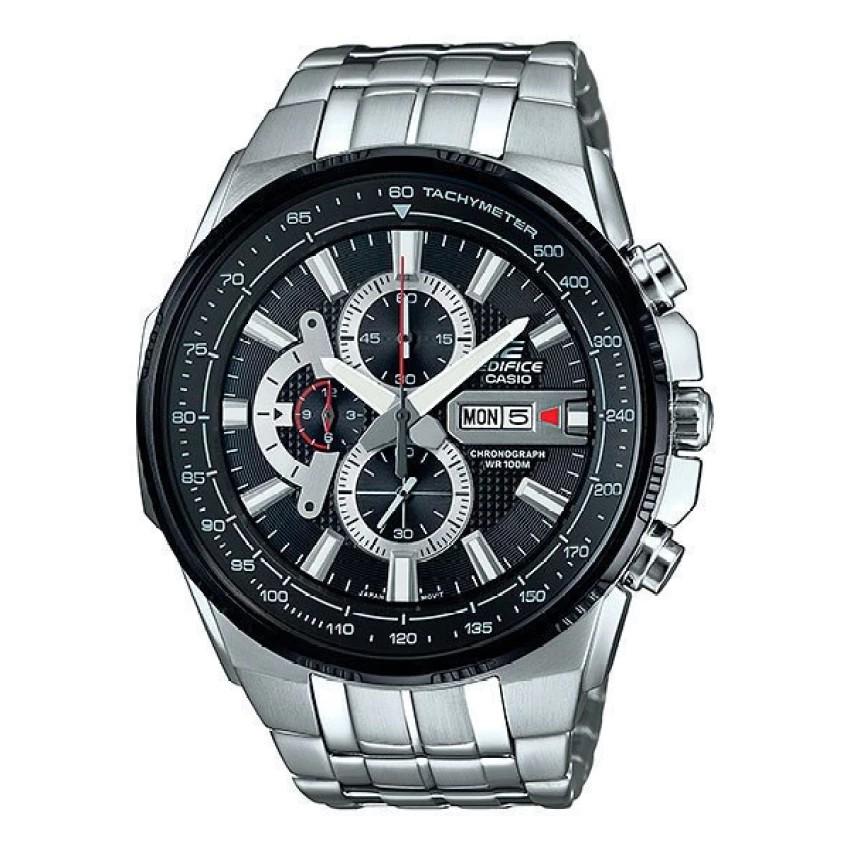 Casio Edifice นาฬิกาข้อมือผู้ชาย สีดำ สายสแตนเลส รุ่น EFR-549D-1A8V