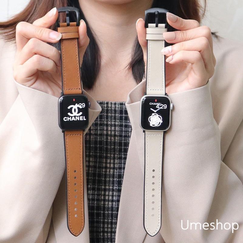 เคส applewatch สาย สำหรับ AppleWatch แบบ หนัง  38/40, 42/44 mm. Series 6 /5/4/3/2/1 series SE สายหนังแบบใหม่!!!
