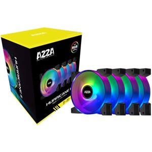 AZZA 4 X HURRICANE II DIGITAL RGB FAN 120mm + Digital RF Remote ( Optional)