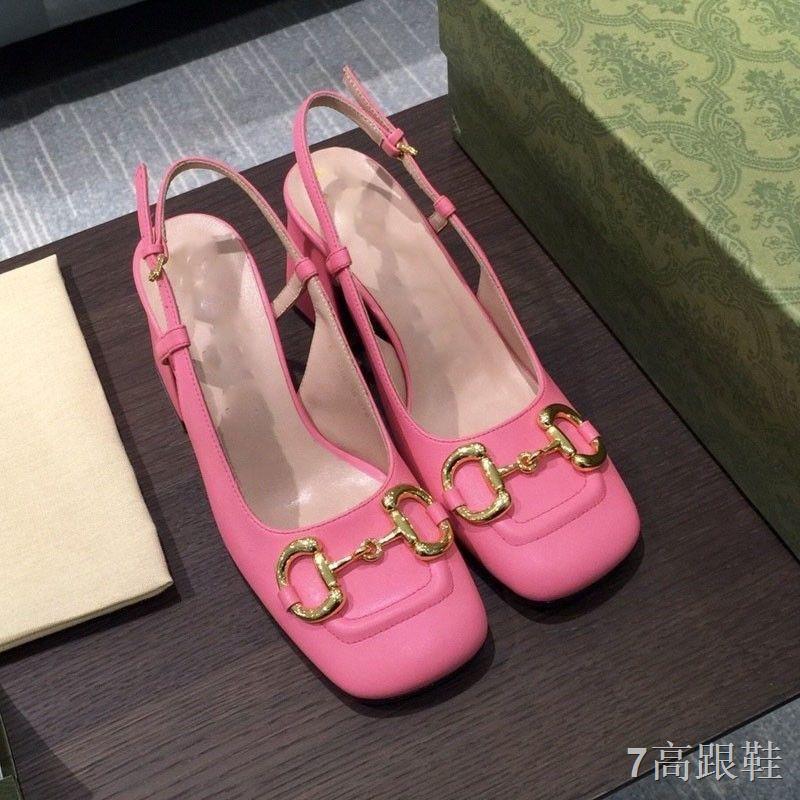 😁รองเท้าส้นสูง😁✤◆ 2021 รองเท้าส้นสูงแฟชั่น รองเท้าคัชชูหัวแหลมผู้หญิงส้นเดี่ยว รองเท้าแตะส้นหนาปั๊ม