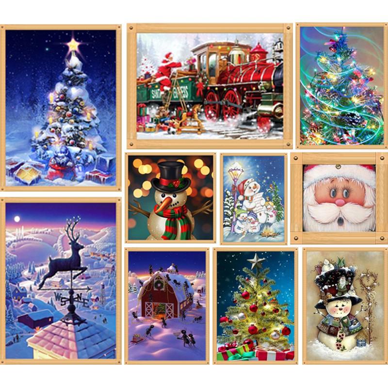 Christmas DIY 5D Diamond Painting Embroidery Cross Craft Stitch Home Dekor~