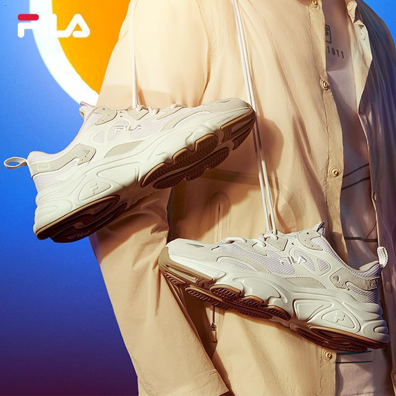 ✥❇♤FILA Fila รองเท้าวิ่งรองเท้าเก่าผู้หญิง Mars รองเท้า 2021 ฤดูร้อนใหม่ย้อนยุครองเท้าลำลองผู้ชายรองเท้าวิ่ง