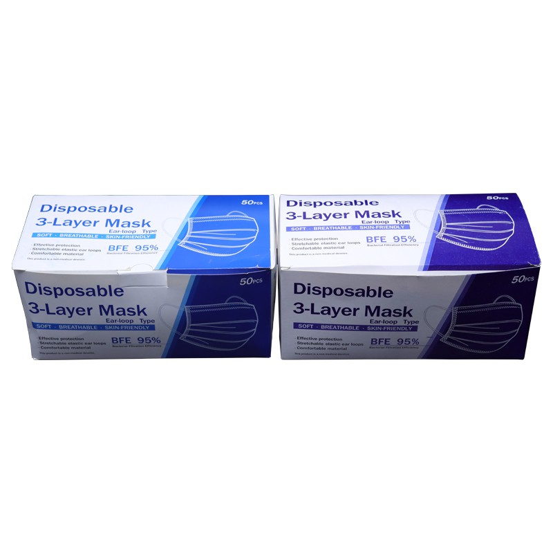HANGROO H102 หน้ากากอนามัย ทางการแพทย์ นำเข้า กล่องละ 50 ชิ้น ป้องกันเชื้อโรค import surgical face mask
