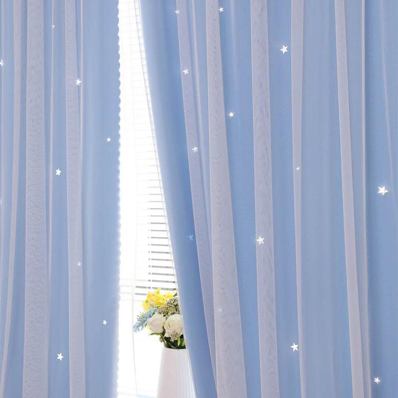 Velcroผ้าม่านเจาะฟรีผ้าม่านสำเร็จรูปให้เช่าห้องนอนผ้าม่านสั้นinsผ้าม่าน โปรโมชั่นพิเศษ